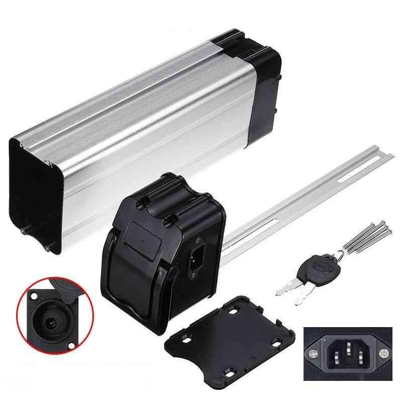 Plastic Battery Box For Electric Bike 36v/48v Large Capacity 18650 Holder Case E-bike Output Port Top Bottom Cover Accessories