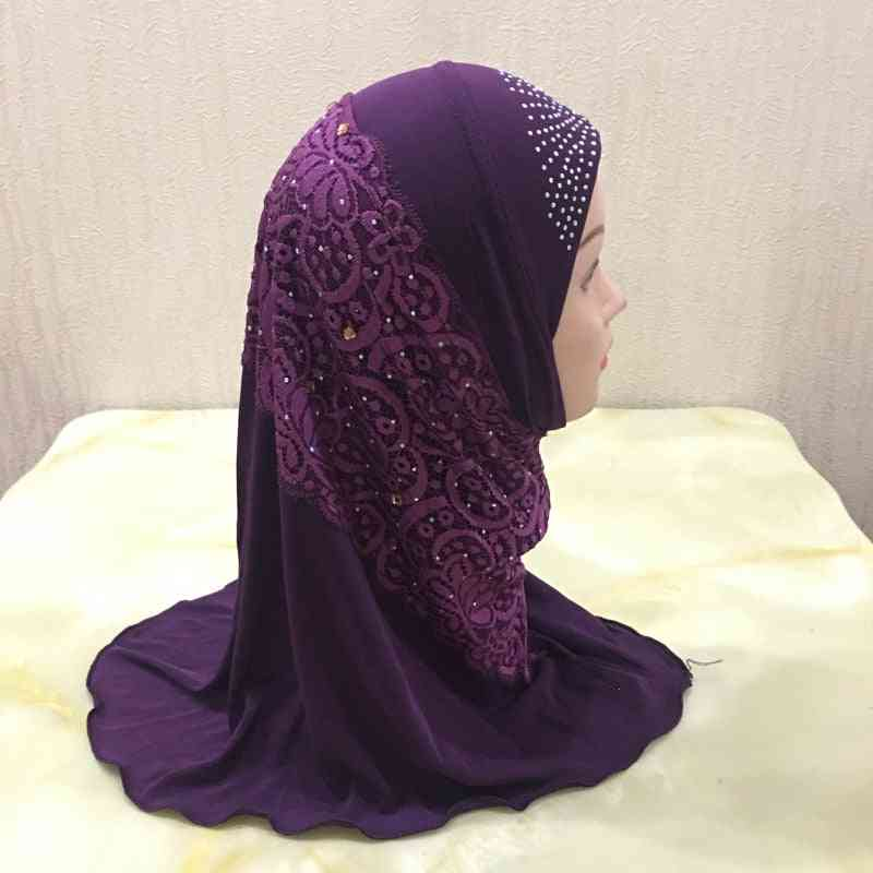 Hijab With Lace Cute Turban Hats Headwrap