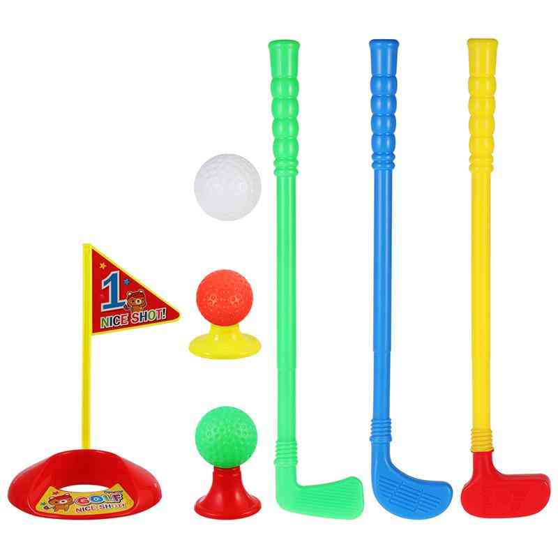 Lioobo 1 Set Golf Club Suit Creative High-quality Outdoor Abs Golf Ball Kit Parent-child For Kids