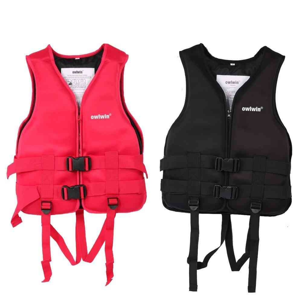 Owlwin Adult Life Vest Jacket Swimming Boating Skiing Driving Ski Vests With Pipe Water Sports Man Life Jacket