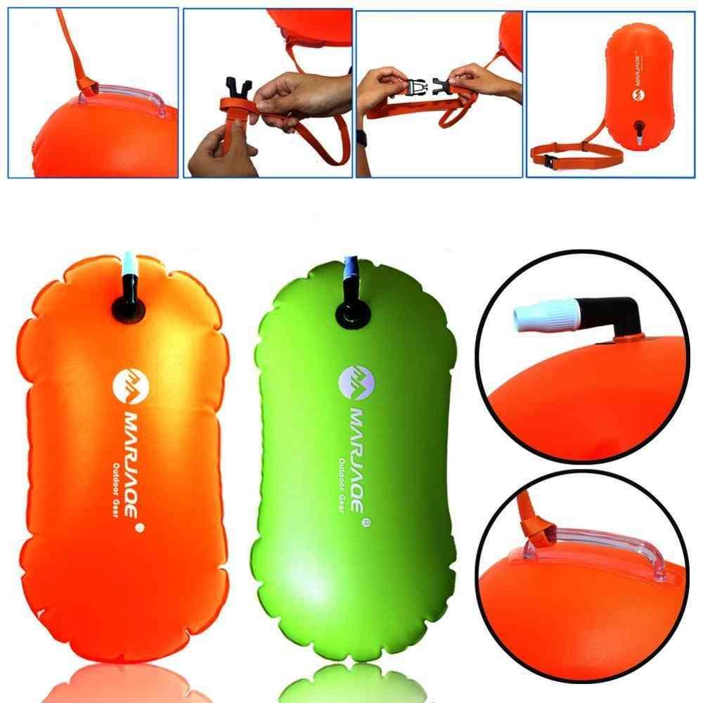 1pcs Float Bag Waterproof Pvc Inflatable Swim Buoy Water Sport Lifesaver Swimming Life Buoy Air Dry Tow Sailing Flotation Bag