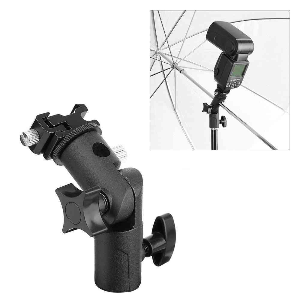 Universal Metal Flash Light Bracket Stand Speedlite Umbrella Holder Adapter With 1/4