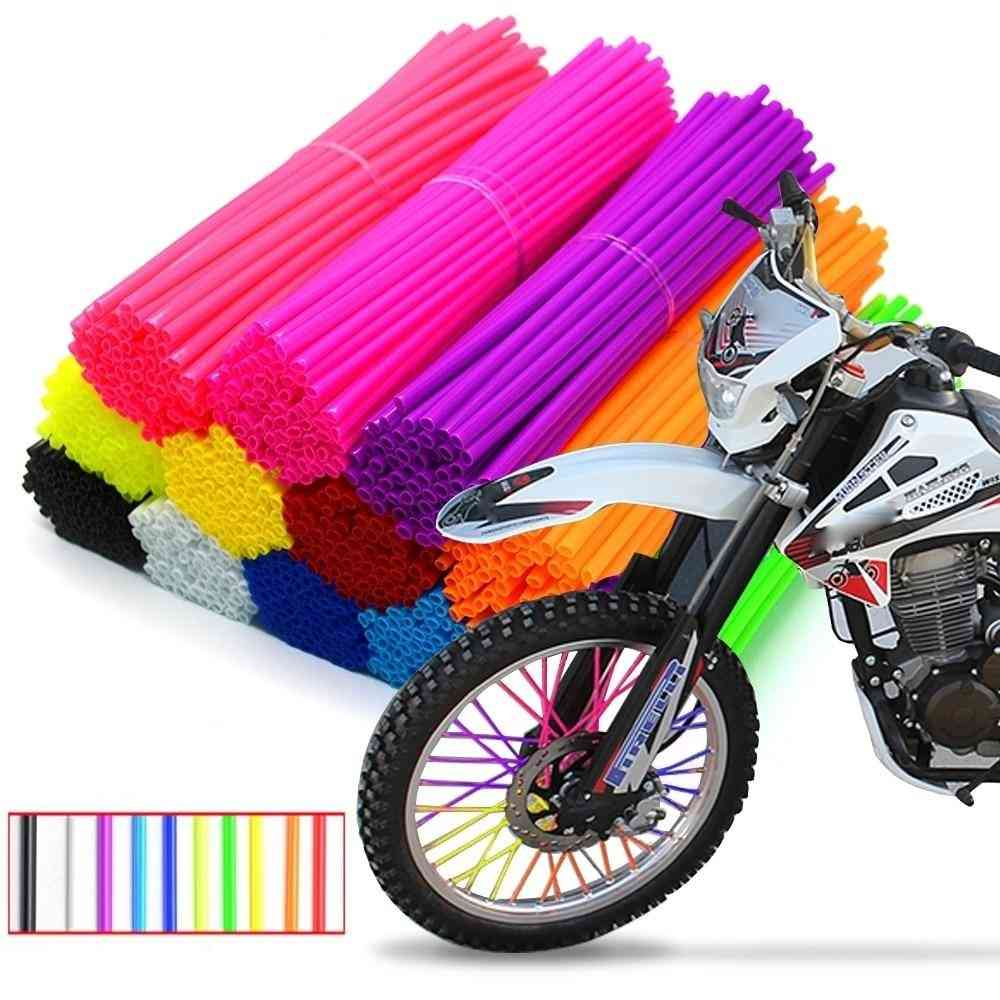 Motorcycle Wheel Spoked Protector Wraps Rims Skin Trim Covers Pipe For Motocross Bicycle Bike