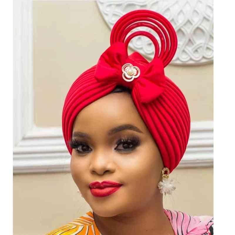 Auto Gele Headtie Wedding Muslim Turban Cap