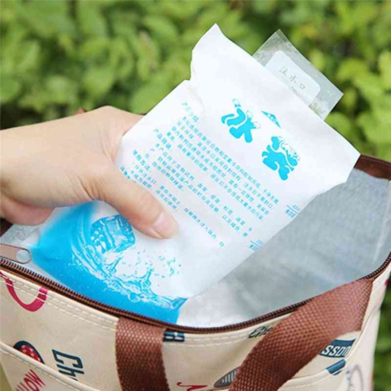 Dry Cold Ice Pack Cooler Bag For Lunch Box Food