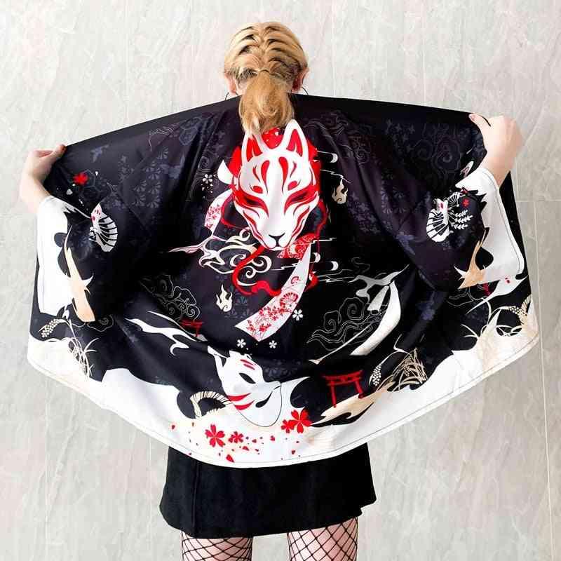 Female Kimono Cardigan Cosplay Kawaii Soft Girl Shirt Clothes