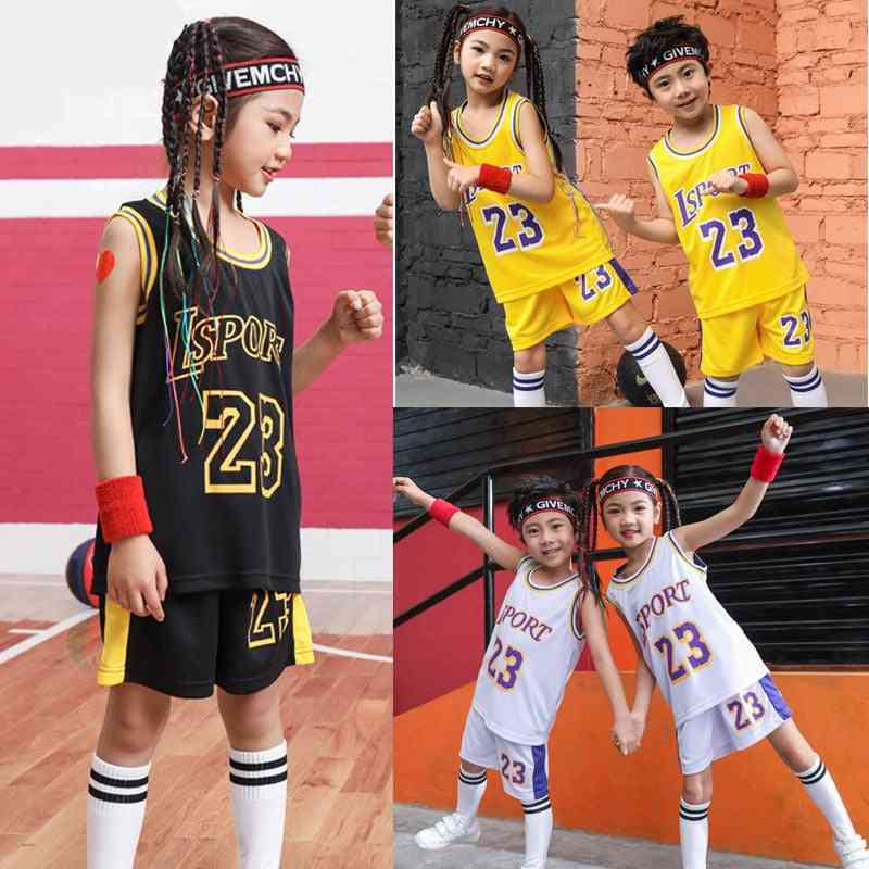 Kids Basketball Jerseys Suit ?boys And Lsport 23# Basketball Set?youth Basketball Uniforms Kits Sports Clothing Custom