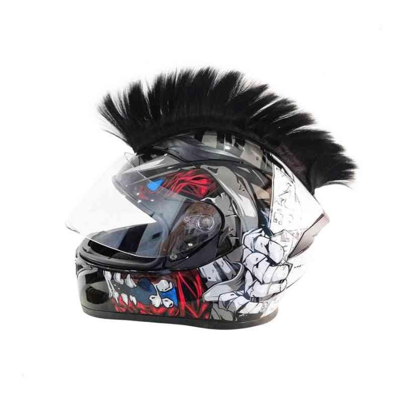 Colorful Helmet Decorations Hair Punk