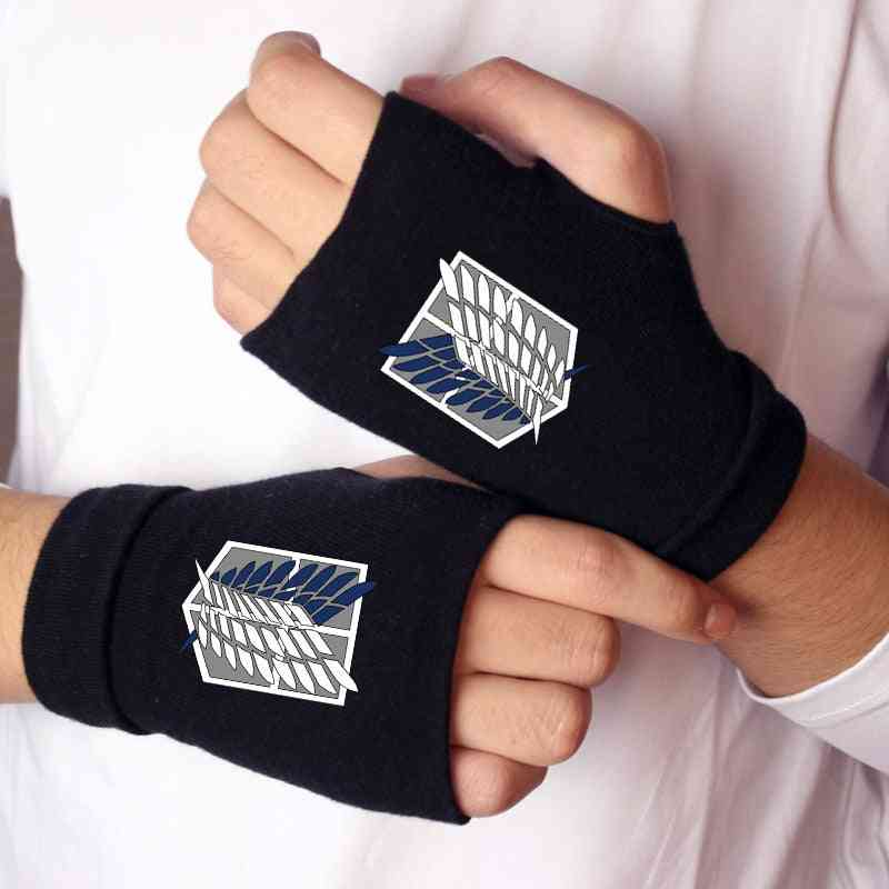 Anime Cosplay Attack On Titan Wings Of Liberty Icon Gloves