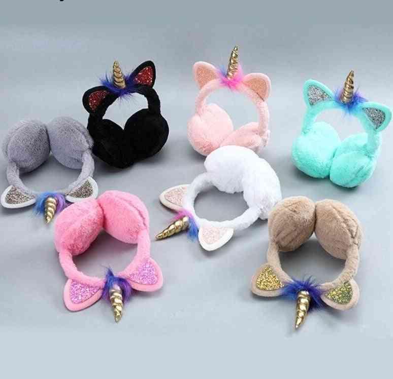 Children Cute Cat Winter Earmuffs, Warm Plush Ear Cover