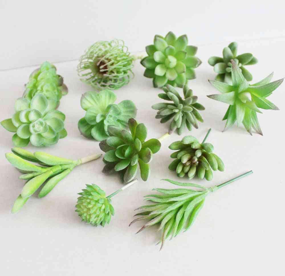 Green Artificial Succulents Plants