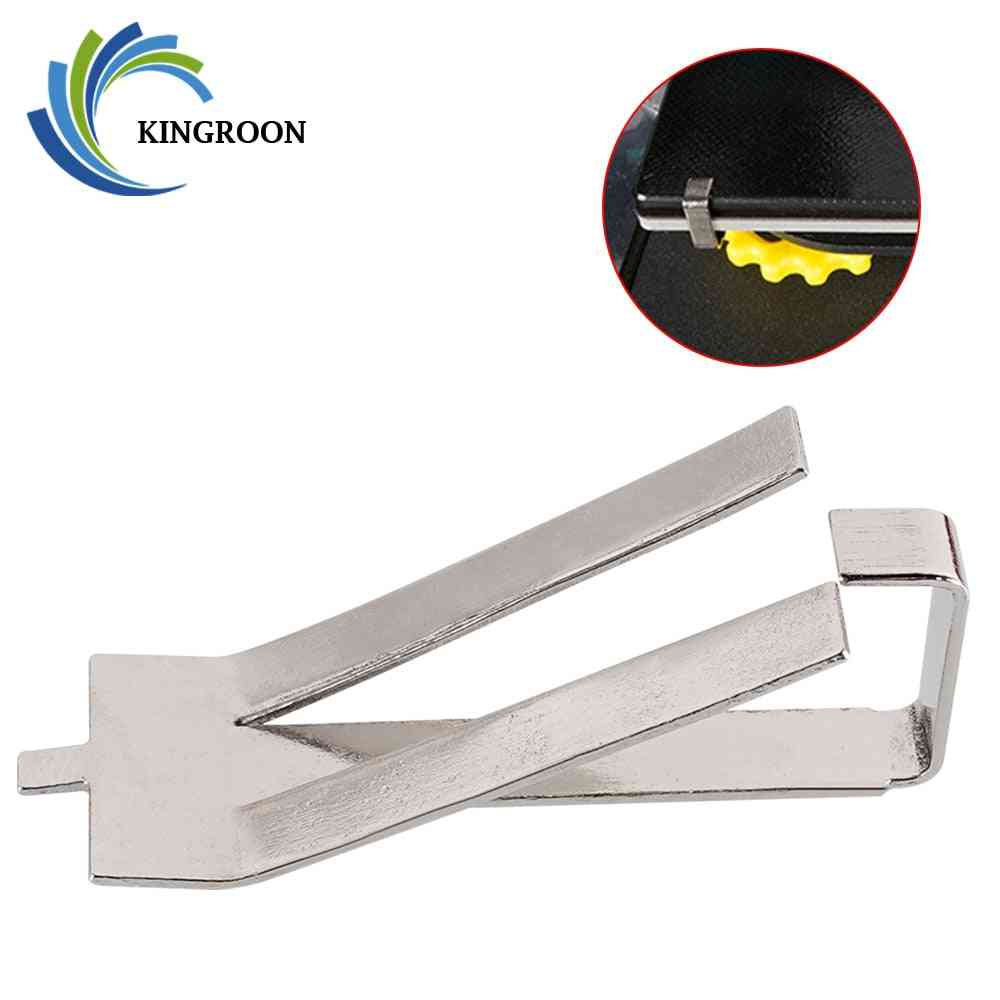 Kingroon 4pcs Stainless Steel Glass Heated Bed Clip Clamp 3d Printer Parts Heatbed Clip For Ultimaker Build Platform Retainer