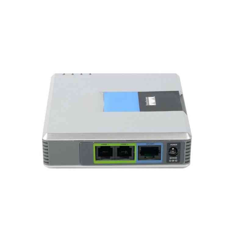Gateway 2 Ports Sip V2 Protocol Internet Phone Voice Adapter With Network Cable