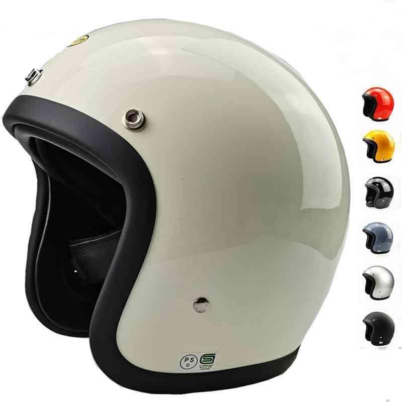 Glass Fiber Vintage Motorcycle Helmet Without Visor
