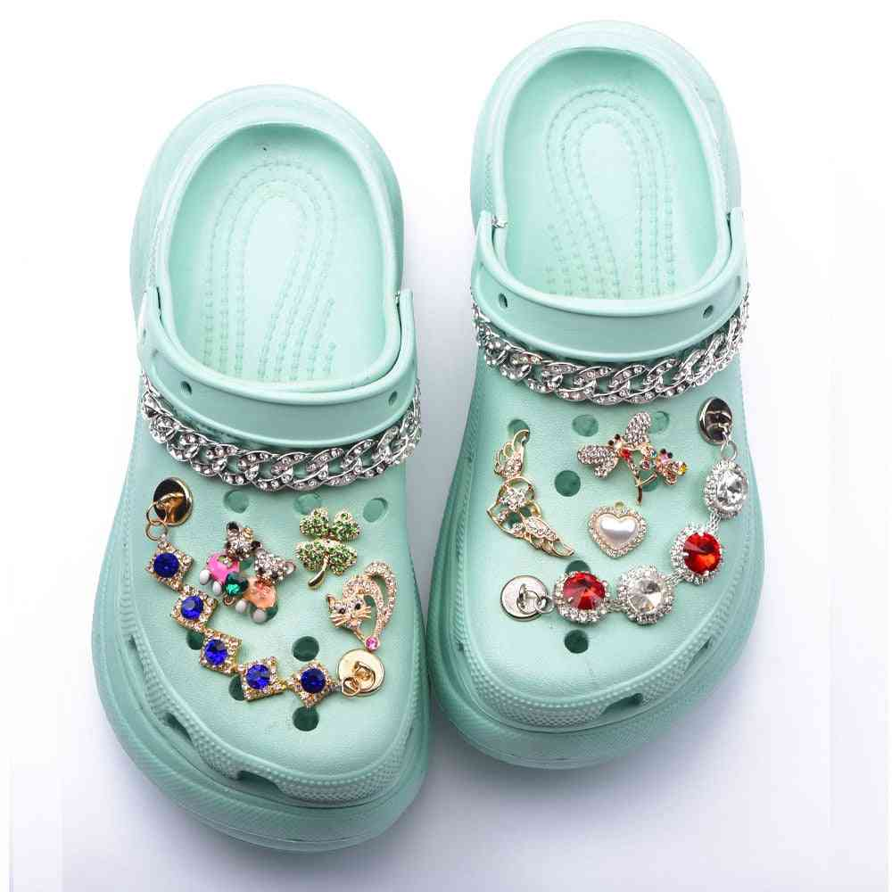 Shoes Croc Charms Rhinestone Butterfly
