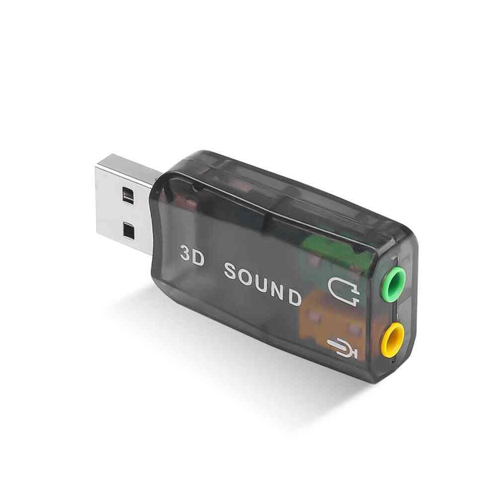 External Usb Audio Adapter Speaker For Laptop