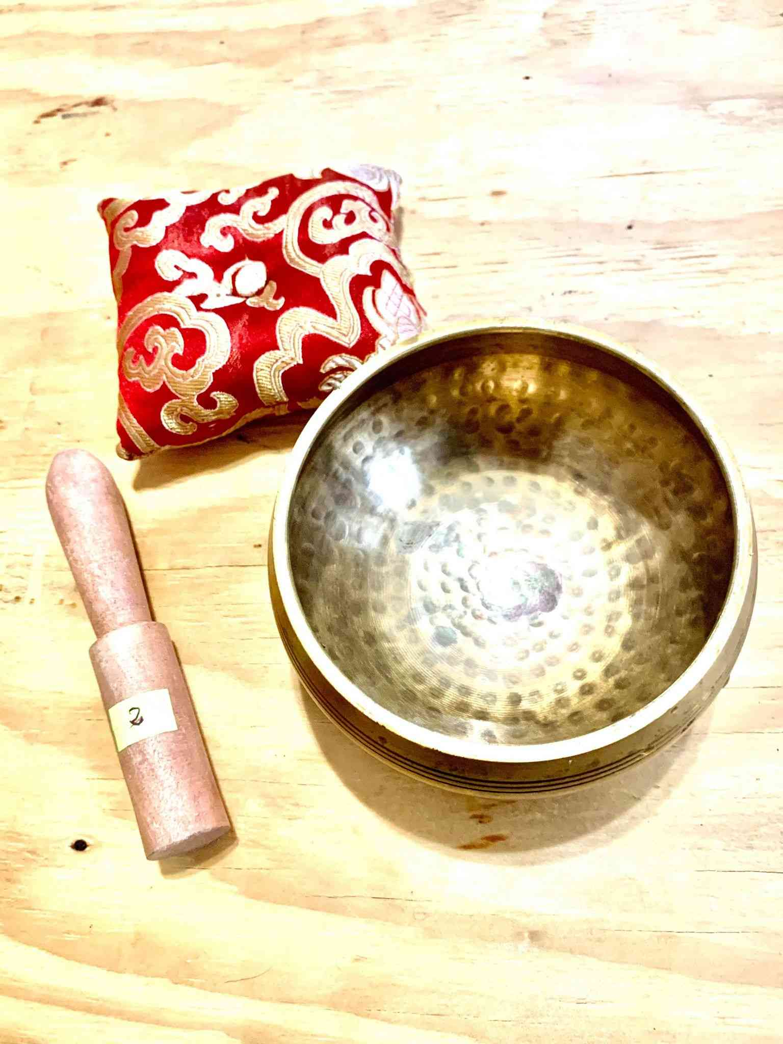 Yoga Singing Bowl For Peace Sound Therapy Meditation Copper-5