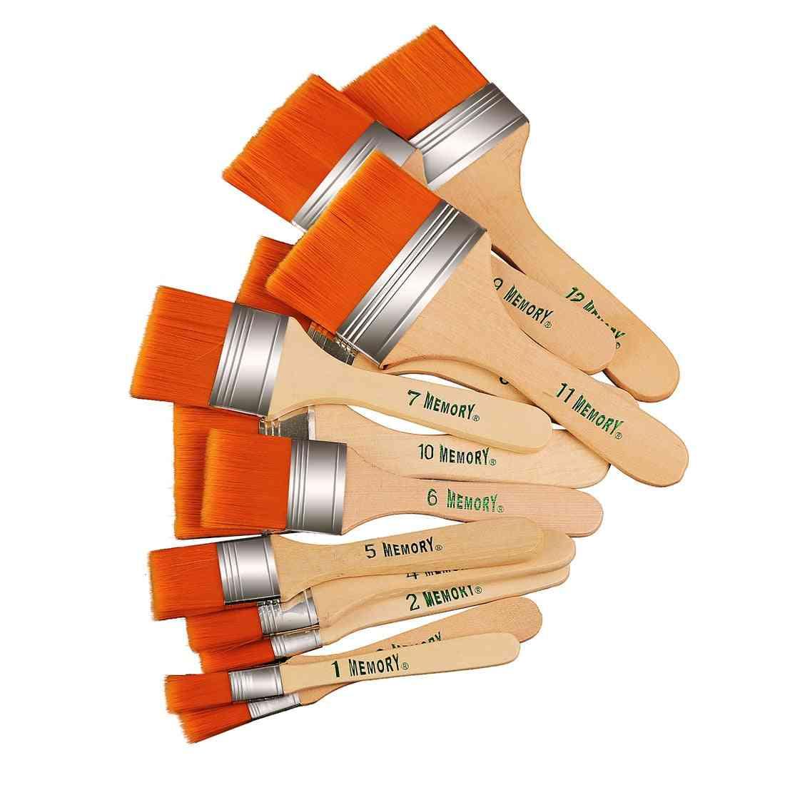Memory Nylon Paint Brushes Set