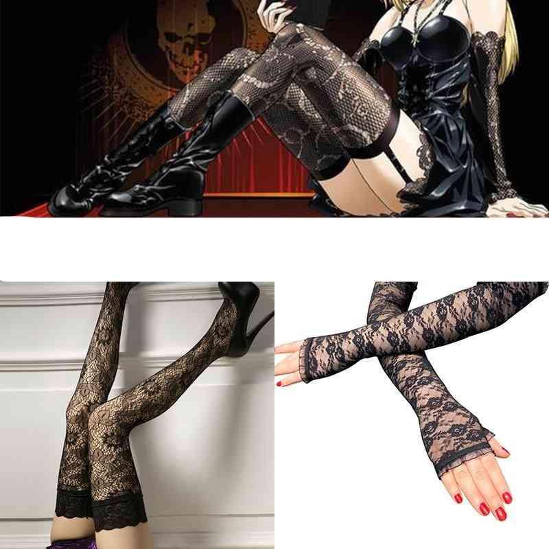 Stockings Cosplay Socks Death Note Misa Amane Cosplay Gloves