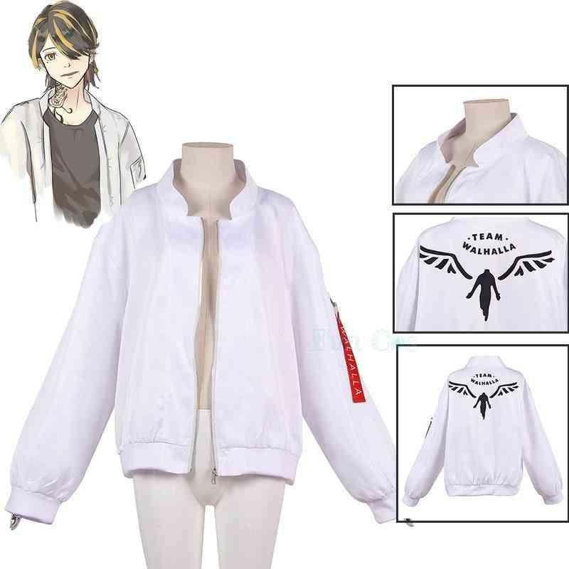 Hanemiya Kazutora Cosplay Costumes White Coat Valhalla Uniform