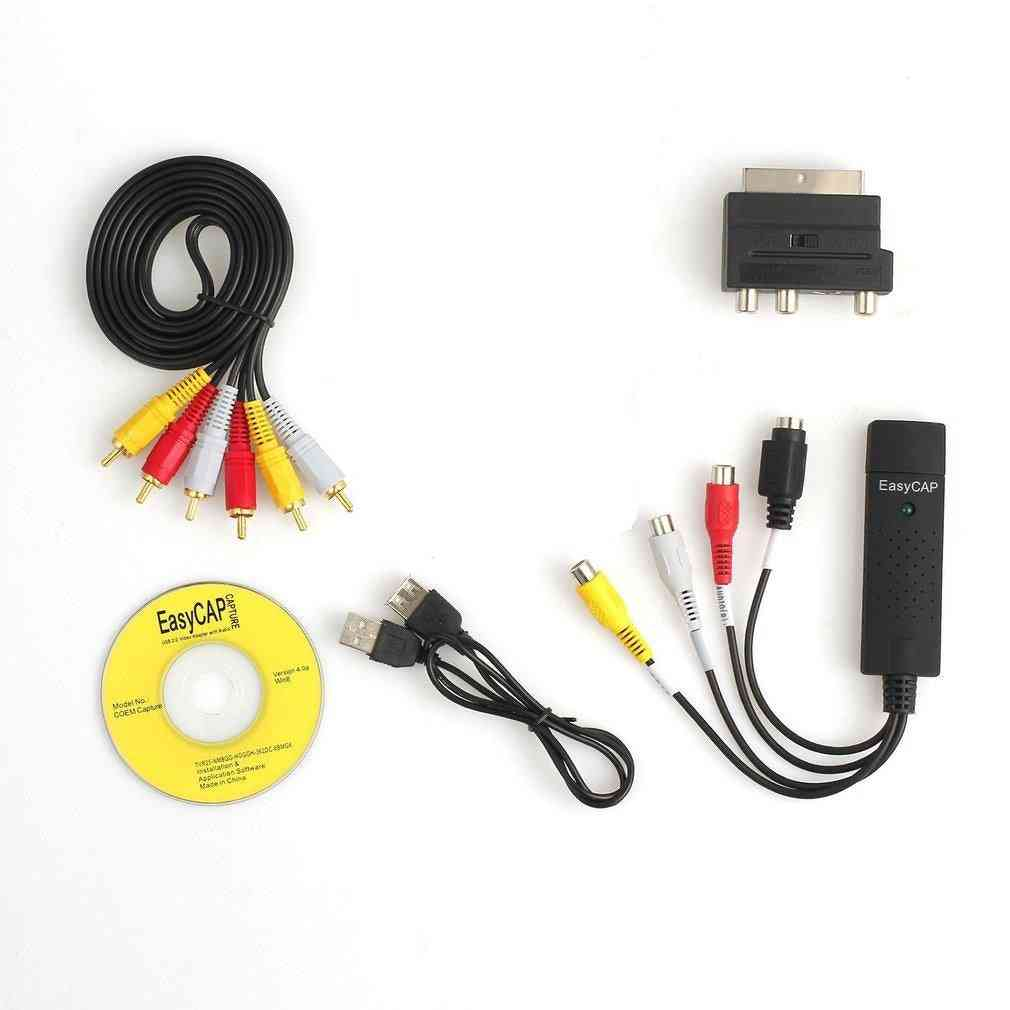 Portable Easy To Cap Usb2.0 Audio Video Capture Card