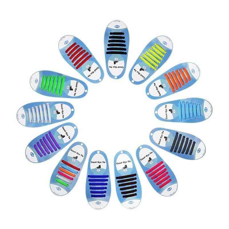 Silicone Elastic No Tie Shoelace