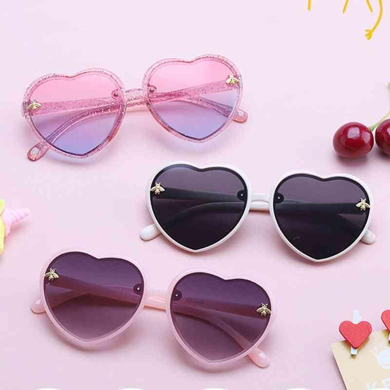 Children Retro Cute Bee Pink Cartoon Sunglasses
