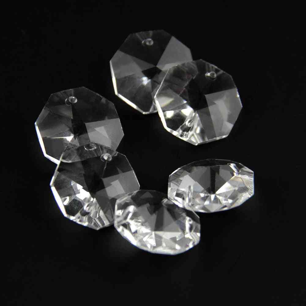 Crystal K9 Octagon Clear Bead