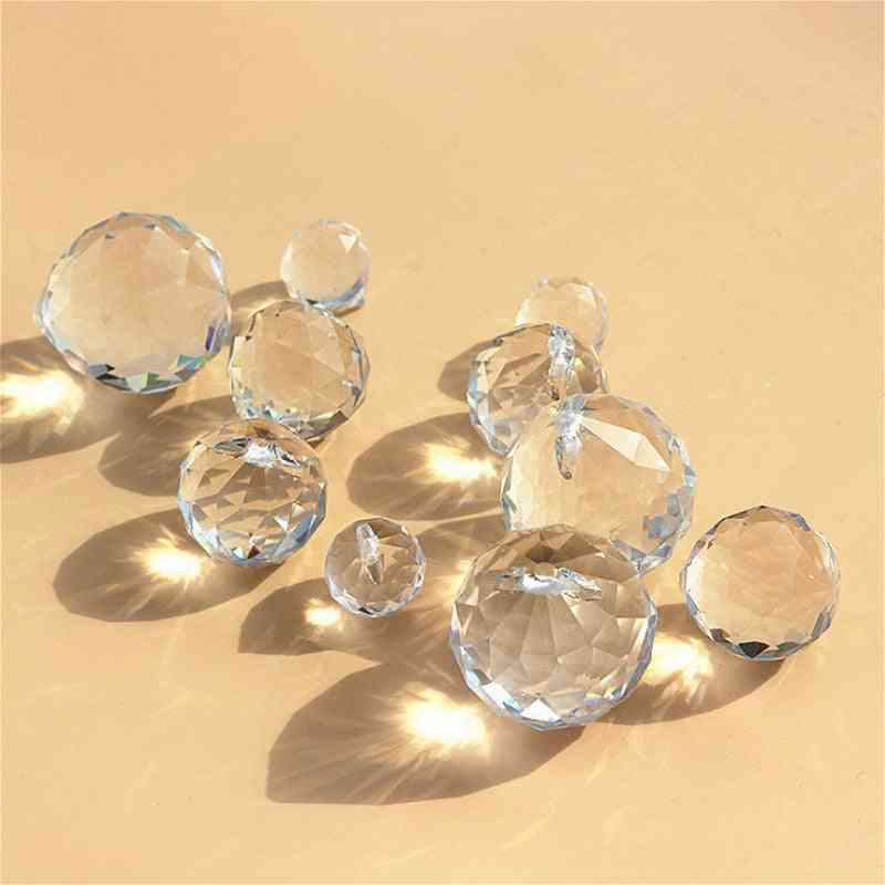 Glass Crystals For Chandeliers Faceted Hanging Ball
