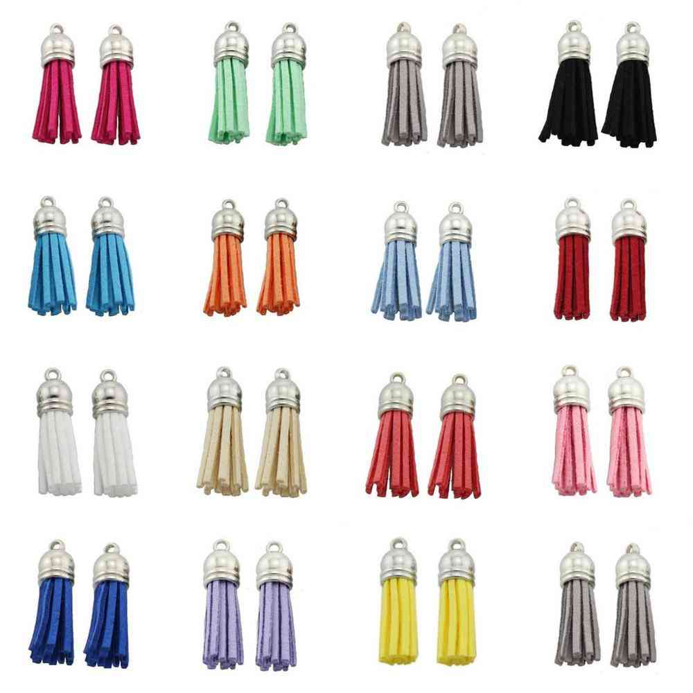 Suede Leather Tassel For Keychain Cellphone Straps
