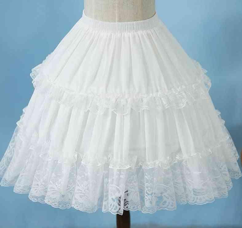 Lolita Chiffon Lace Cosplay Petticoat Underskirt