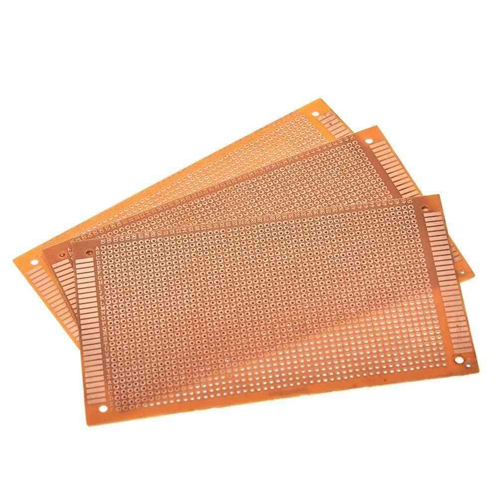 Single Side Prototype Pcb Experimental Bakelite Copper Plate Circuit Board Yellow