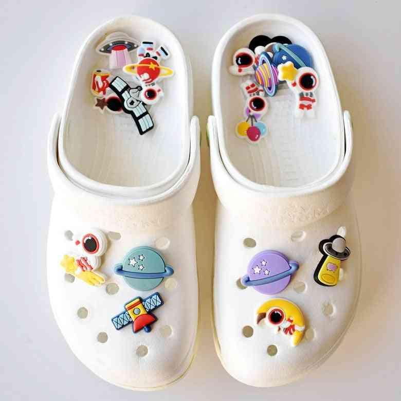 Alien Shoe Charms Accessories Cartoon Astronaut/pluto Garden Shoe