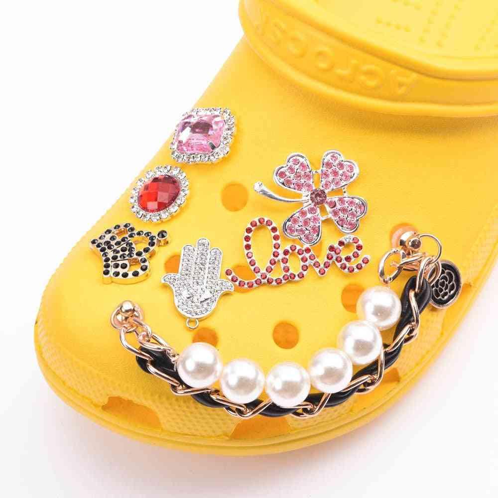 Shoes Charms Designer Croc Rhinestone Butterfly Jibz Accessories