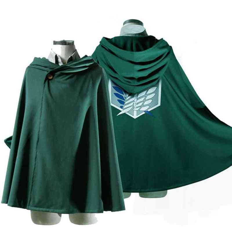 Titan Costume Green Cloak ,anime Cosplay  Shingeki No Kyojin Hoodie