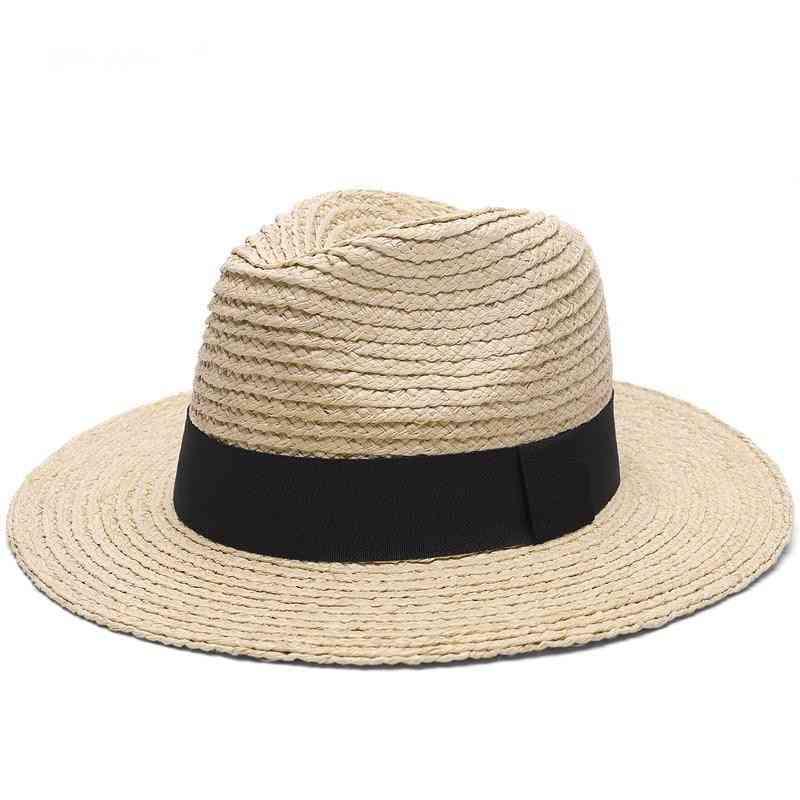 Top Grade Straw Hat Summer Women Men Wide