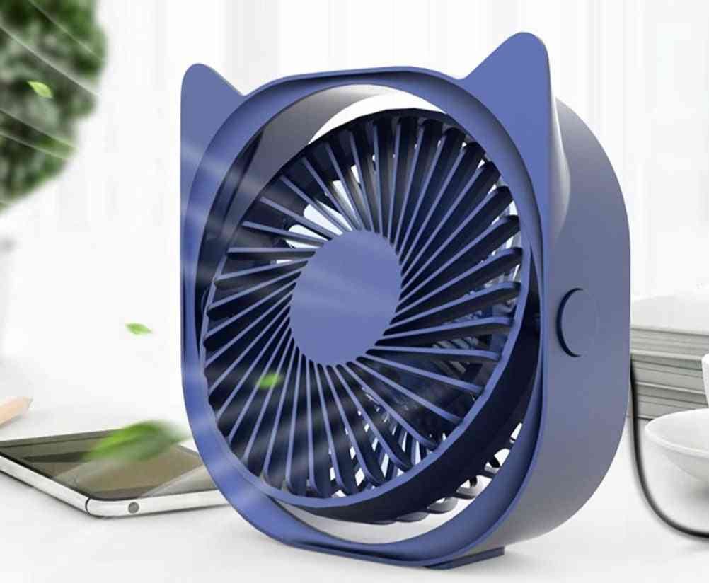 360 Degrees Angle Adjustable Portable Electric Fan