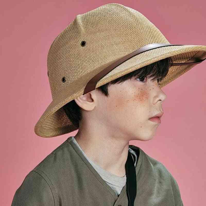 Boy Girl Vietnam War Army Hat, Parent-child Hat Dome Safari Jungle Miners Cap