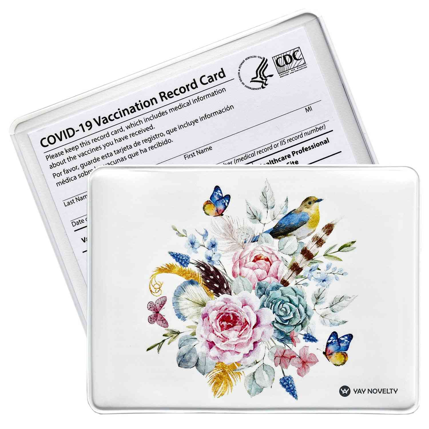 Vaccination Card Protector - Flower Bouquet