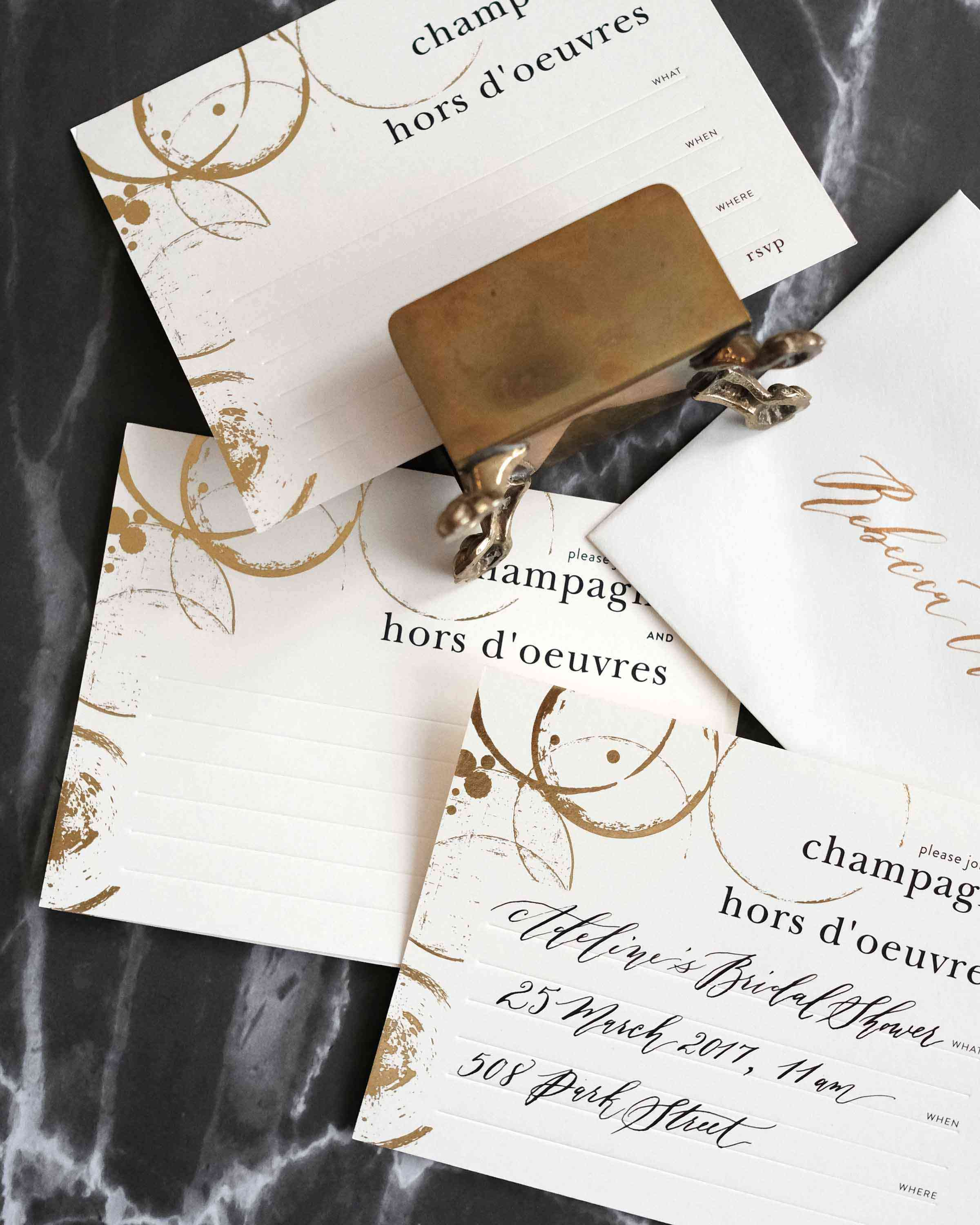 Champagne & Hors D'oeuvres Invitations