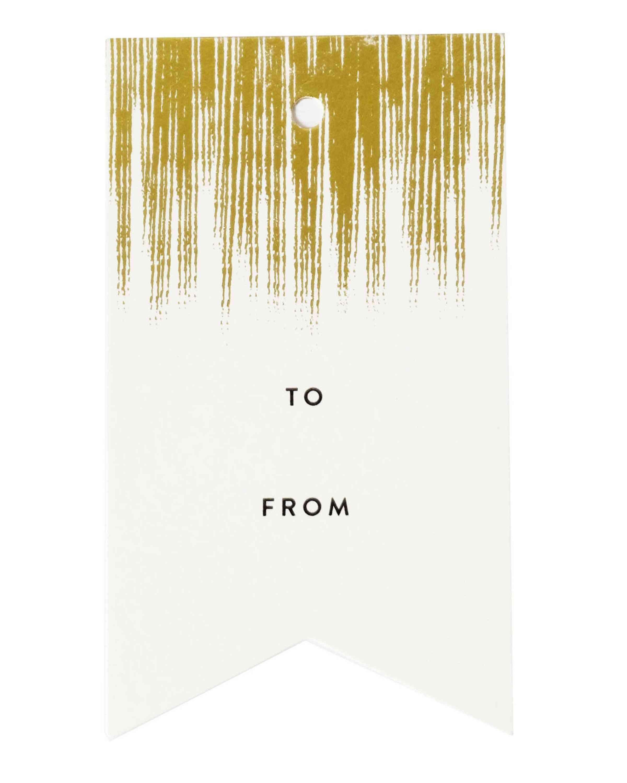 Gold Brush Single Tag