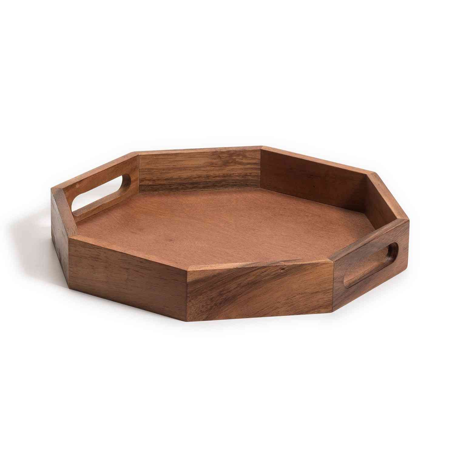 Octagon Wood Charcuterie/serving Tray 15