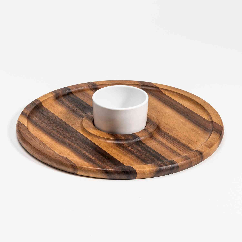 Large Chip N Dip With Ceramic Bowl