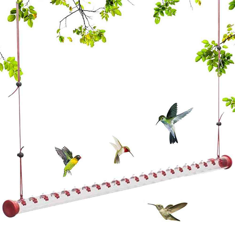 Hummingbird Feeder With Bright Red Transparent Poly-carbonate Tube Sp