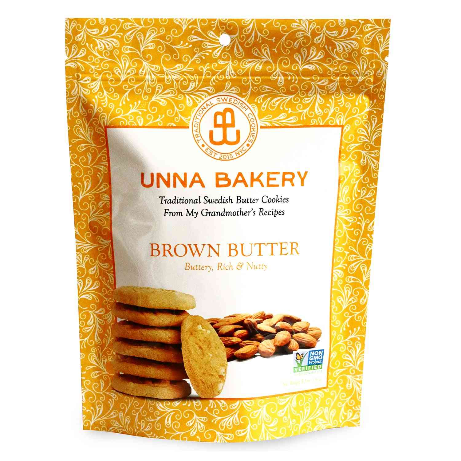 Brown Butter Cookies 5.5 Oz From Unna Bakery. 1 Case/6 Units.