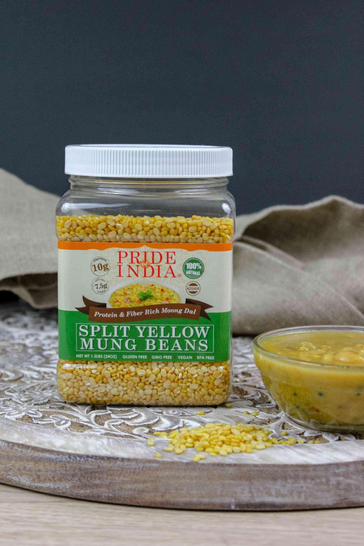 Indian Split Yellow Mung Lentils - Protein & Fiber Rich Moong Dal Jar