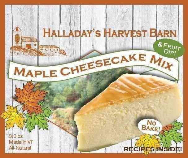 Halladays Maple Cheesecake No Bake Mix