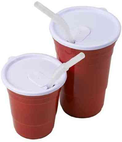 Red Cup Living Lid For 18-ounce Cup, Set Of 2