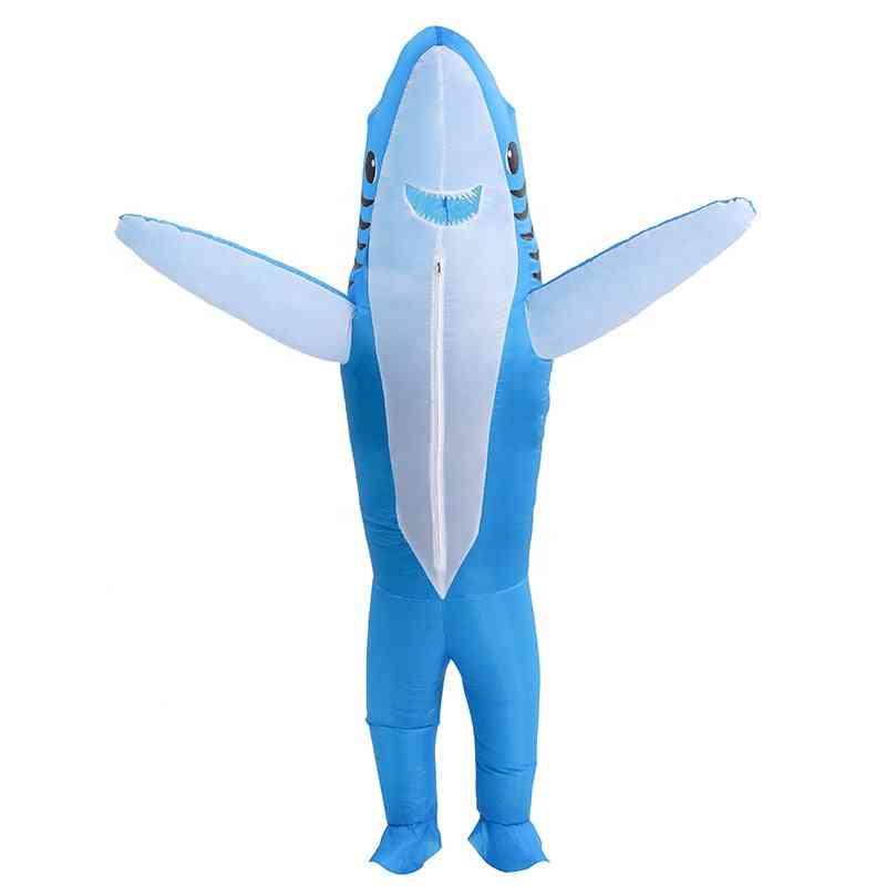 Inflatable Adult Shark Costume; Unisex