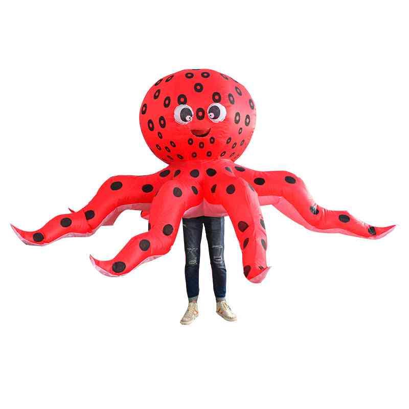 Inflatable Adult Octopus Costume; Unisex